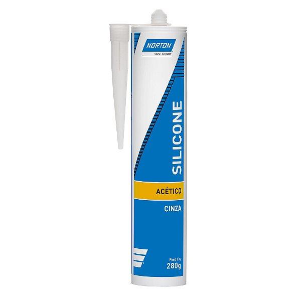 Silicone Acético Cinza 280 g Caixa com 12