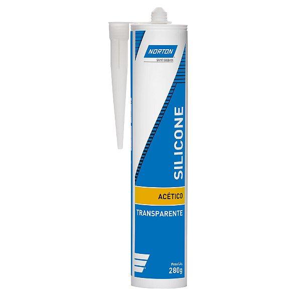 Silicone Acético Transparente 280 g Caixa com 24