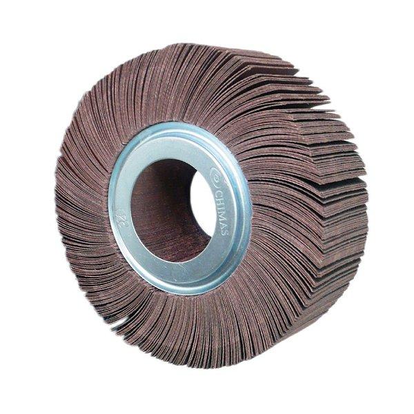 Roda de Lixa Flap PG Polikontour PK KA169 Óxido de Alumínio Grão 80 - 50 x 150 mm