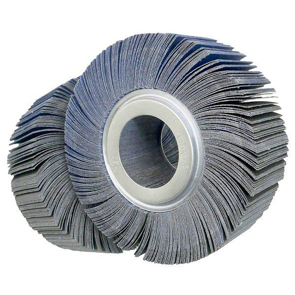 Roda de Lixa Flap PG Polikontour PK R363 Óxido de Alumínio Azul Grão 180 - 50 x 150 mm