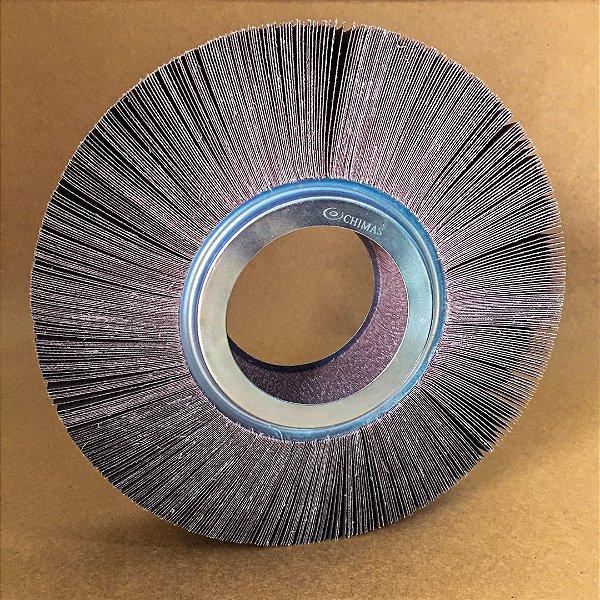 Roda de Lixa Flap PG Polikontour PK KA169 Óxido de Alumínio Grão 220 - 50 x 200 mm