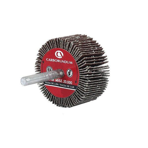 Roda de Lixa Flap PG Mini Kontour MK com Haste CARBO Grão 60 50 x 25 mm