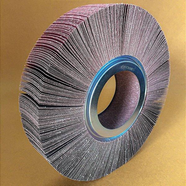 Roda de Lixa Flap PG Polikontour PK KA169 Óxido de Alumínio Grão 100 - 50 x 250 mm