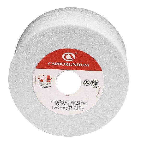 Rebolo Ferramentaria Óxido de Alumínio Branco Copo Reto 152,4 x 76,2 x 31,75 mm 6A AA60 K8V40W