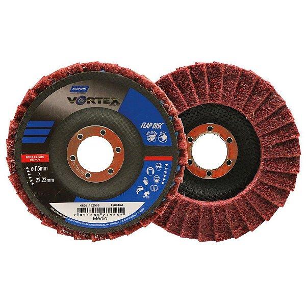 Disco Flap Vortex Médio Vermelho 115 x 22 mm