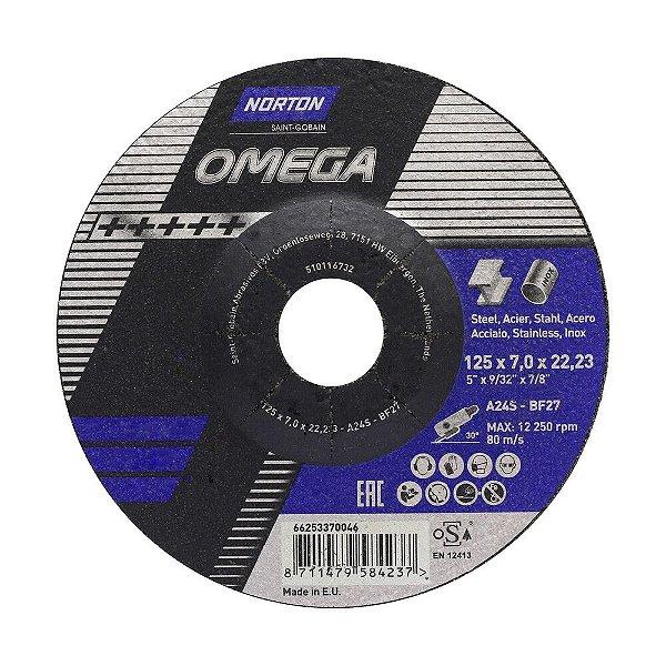 Disco de Desbaste Omega 125 x 7 x 22,23 mm