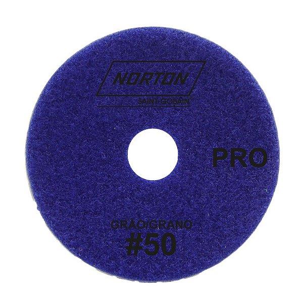 Disco de Lixa Diamantada Flexível Brilho D'Água Norton  PRO Grão 50 - 100 x 20 mm