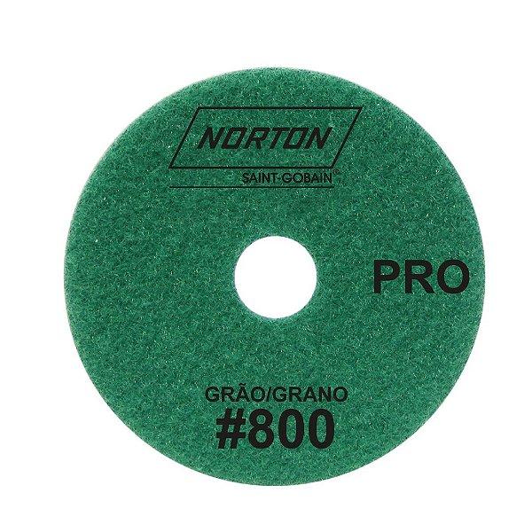 Caixa com 10 Disco de Lixa Diamantada Flexível Brilho D'Água Norton  PRO Grão 800 - 100 x 20 mm