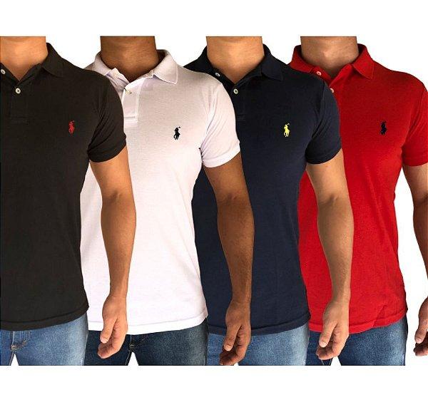 Kit 4 Camisas Polo - Gola Polo
