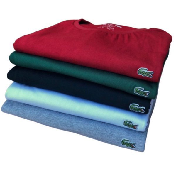 Kit 5 Camisetas Masculinas - Lac Croco Basic