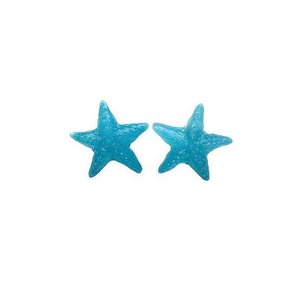 Brinco estrela azul