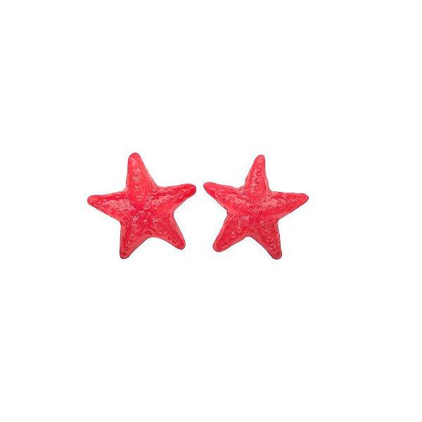 Brinco estrela vermelha