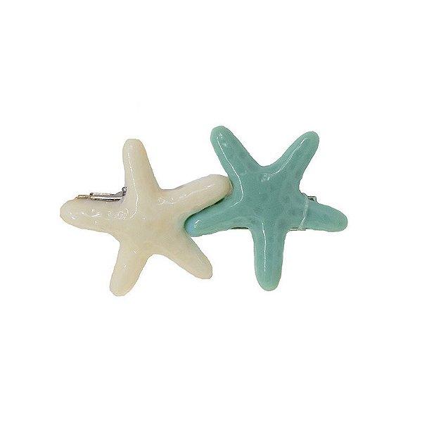 Presilha Estrela do Mar Verde e Creme