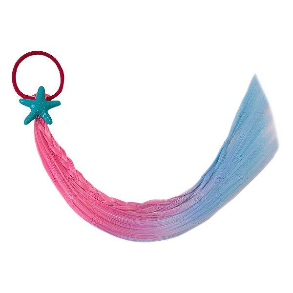 Cabelo mágico de Sereia Azul e rosa