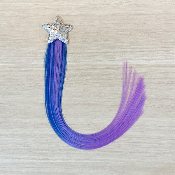 Cabelo mágico de Sereia Estrela Prata