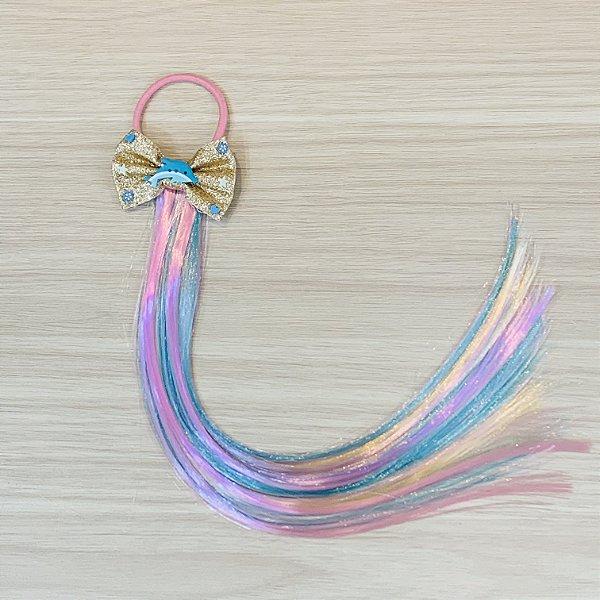 Cabelo mágico de Sereia Laço com Golfinho