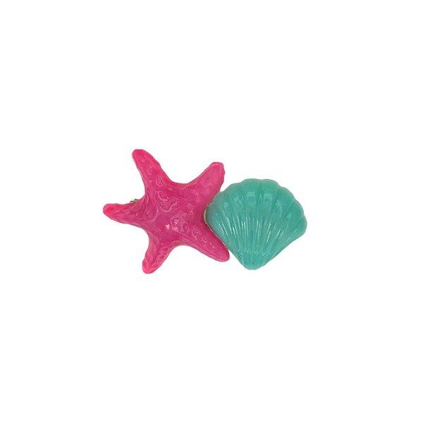 Presilha Estrela e Concha Rosa