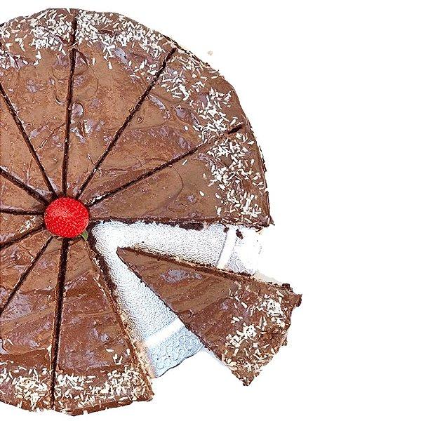 Torta de Prestígio Fit Congelada | 1,2kg | 22 cm de diâmetro