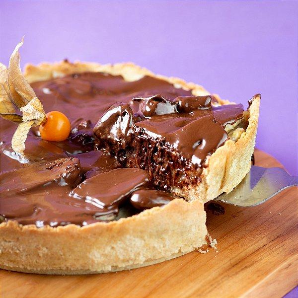 Torta Vegana de Banana com Chocolate   1,2kg   24 cm de diâmetro