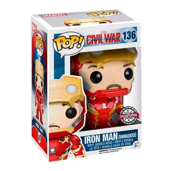 Funko Pop! Civil War - Iron Man Unmasked - Special Edition