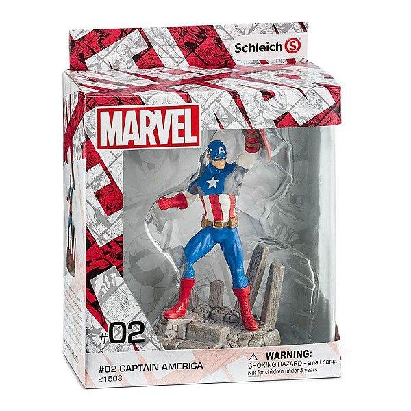 Estatueta Capitão América (Captain-America) - Marvel - Schleich