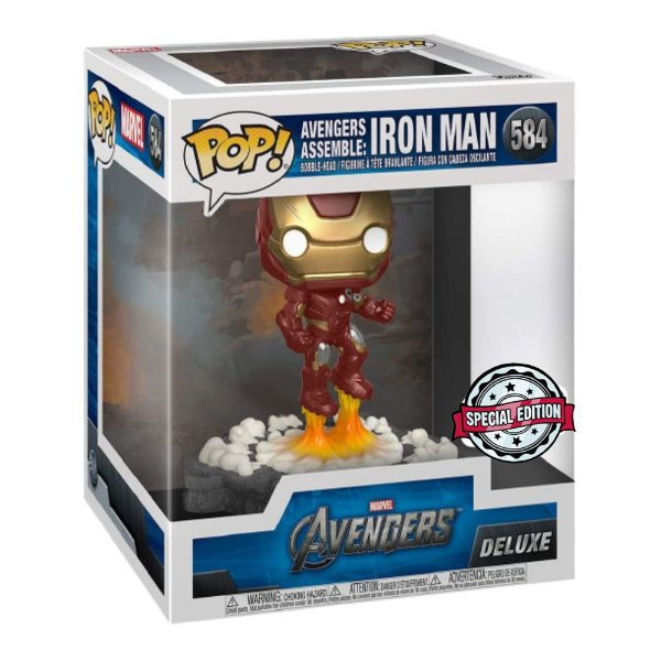 Funko Pop! Deluxe Marvel Avengers Iron Man Exclusivo