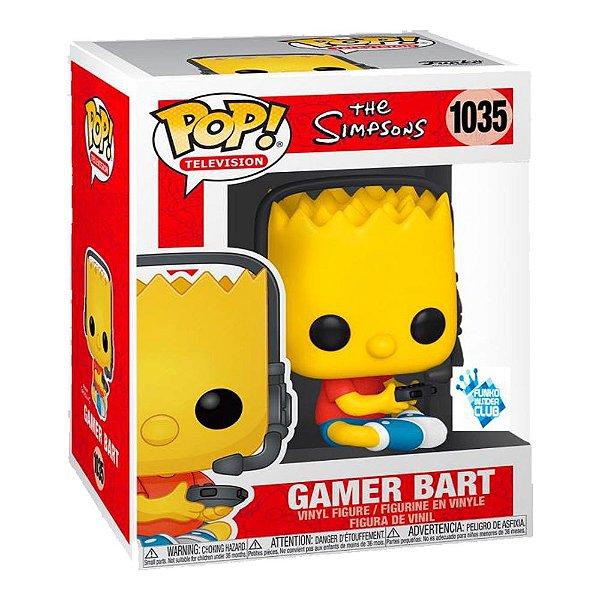 Funko Pop! Television Os Simpsons Gamer Bart Edição Especial