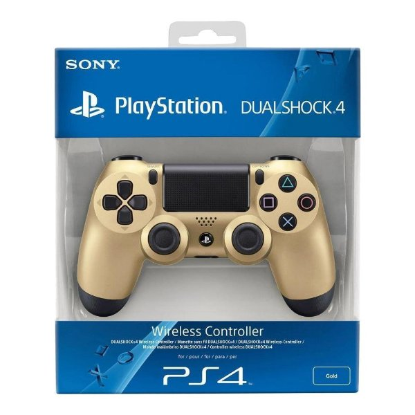 Controle Sem Fio Dualshock 4 Sony Gold - PS4