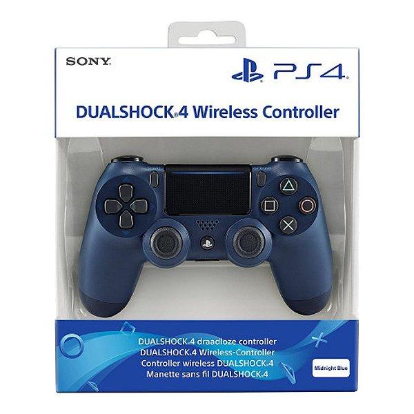 Controle Sem Fio Dualshock 4 Sony Midnight Blue - PS4