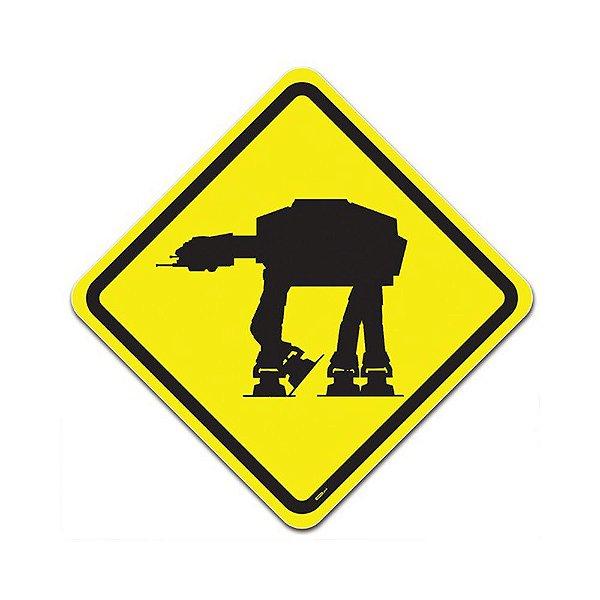 Placa de Parede Estilo Trânsito - Perigo Império Na Pista