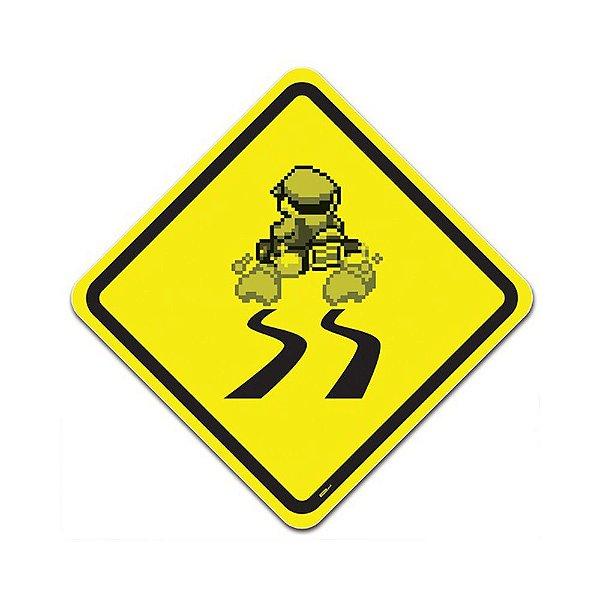 Placa de Parede Estilo Trânsito - Banana na Pista