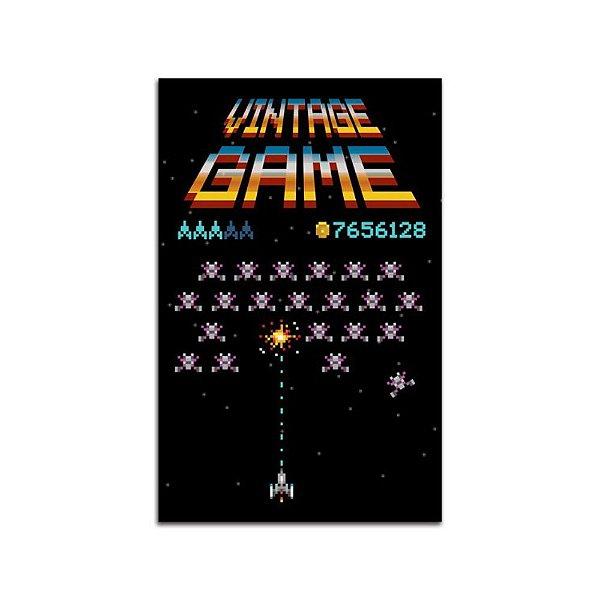 Placa de Parede - Vintage Game