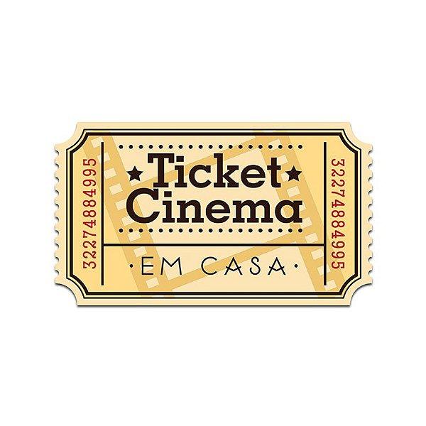 Placa de Parede - Ticket Cinema