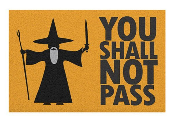 Capacho You Shall Not Pass - Zombie