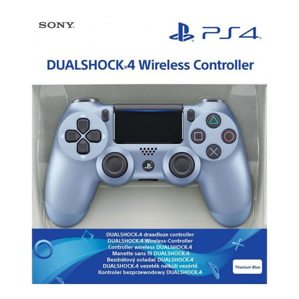 Controle Sem Fio Dualshock 4 Sony Azul Titânio - PS4
