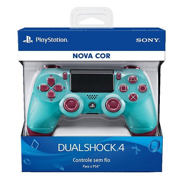 Controle Sem Fio Dualshock 4 Sony Berry Blue - PS4