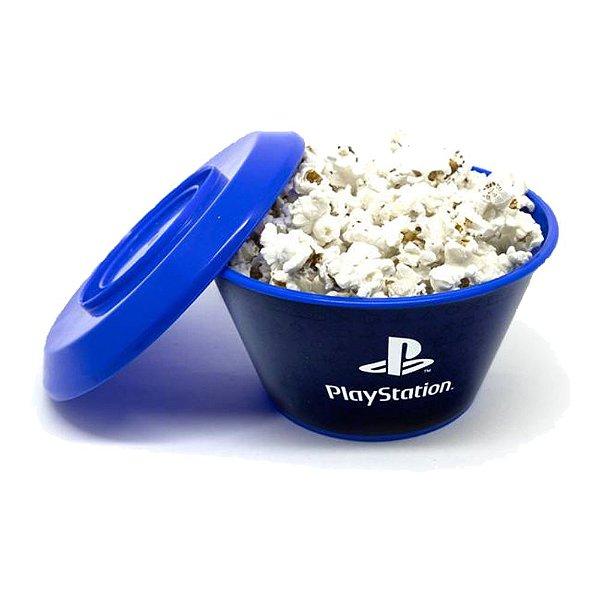 Mini Balde Pipoca Com Tampa 800ml PlayStation - Games