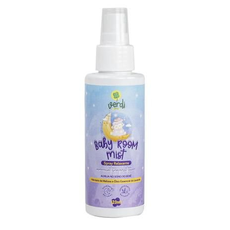 Baby Room Mist Spray Relaxante Aromaterapêutico com Hidrolato de Melissa e Óleo Essencial de Lavanda