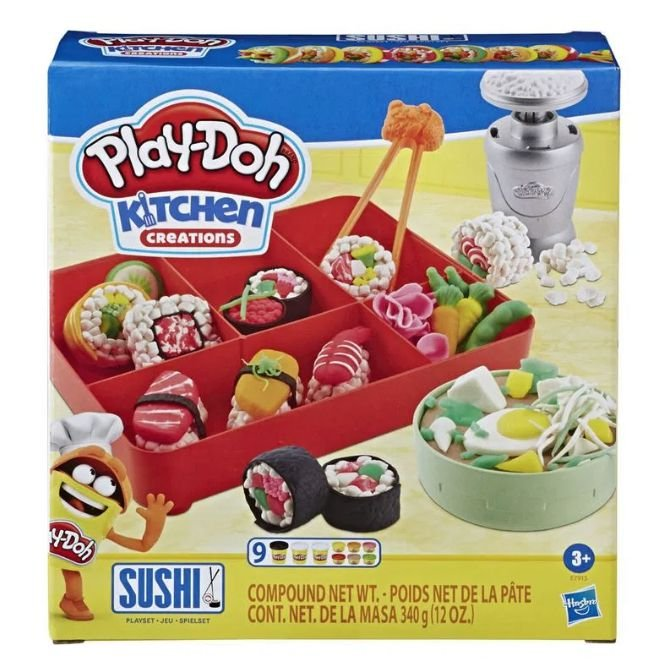Conjunto Massinha Sushi Play Doh Mini Clássicos, Hasbro