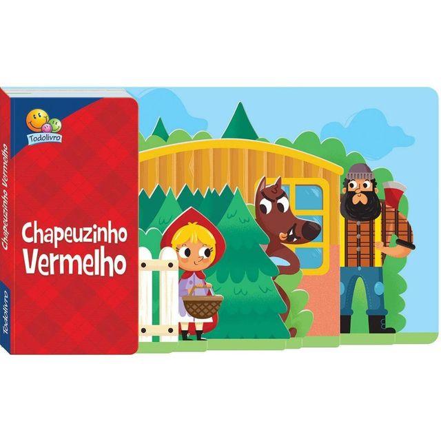 Livro Chapeuzinho Vermelho com Abas, Editora TodoLivro
