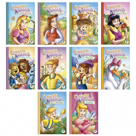 Kit com 10 Livros Clássicos Adoráveis, Editora TodoLivro