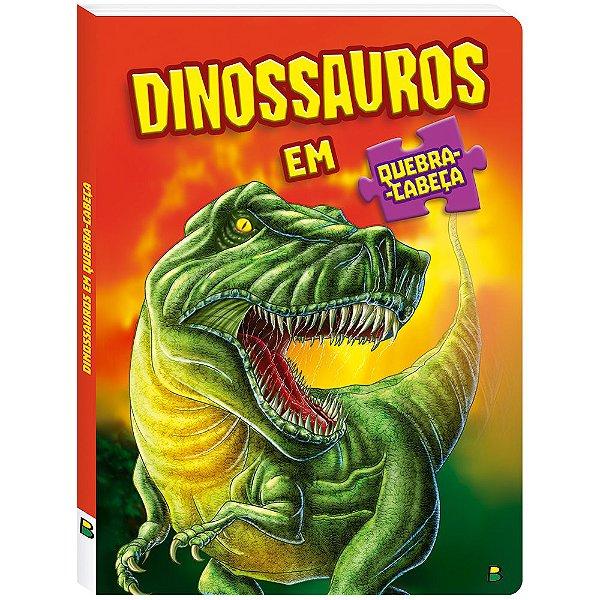 Livro em Quebra Cabeça Dinossauro! Editora Todolivro
