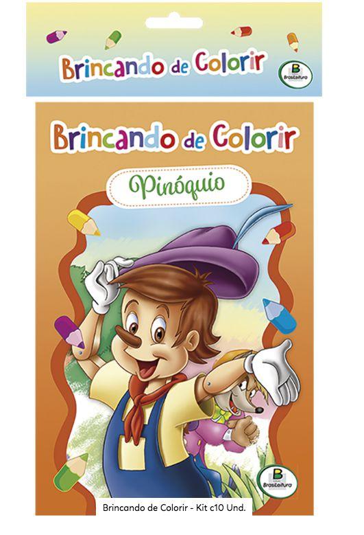 Livro Brincando de Colorir Kit com 10 unidades! Editora Todolivro