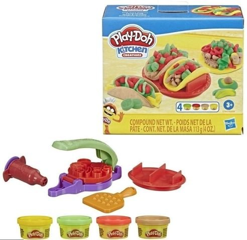 Massinha Taco Comida Mexicana Kitchen Creations Play Doh, Hasbro