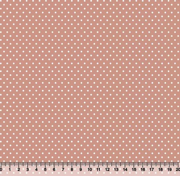 Tecido Tricoline Poá Pequeno Rosa Seco