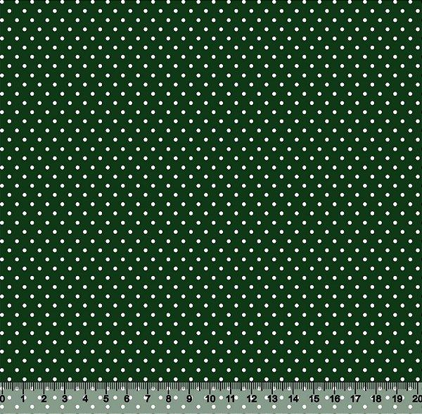 Tecido Tricoline Poá Pequeno Verde-Escuro