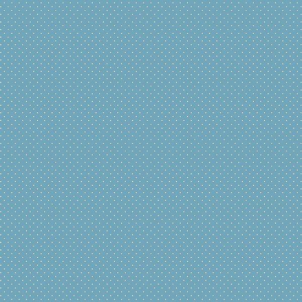 Tecido Tricoline Micro Poá Azul