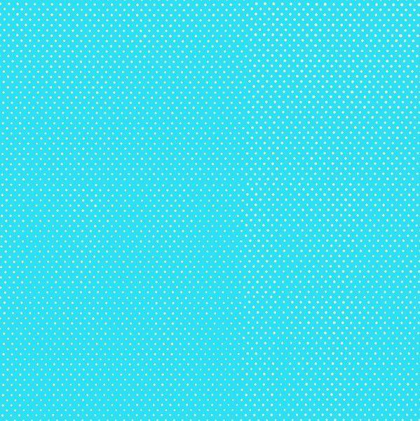 Tecido Tricoline Micro Poá Azul Thiffany