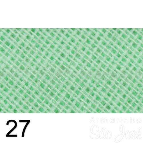 Viés Destaque 35mm Largo Verde Bebê