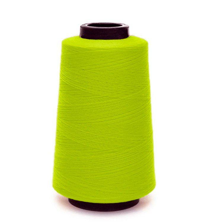 Linha De Costura Fio 120 Amarelo-Fluorescente